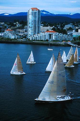Van Isle 360 Yacht Race starts in Nanaimo, Vancouver Island, British Columbia, Canada