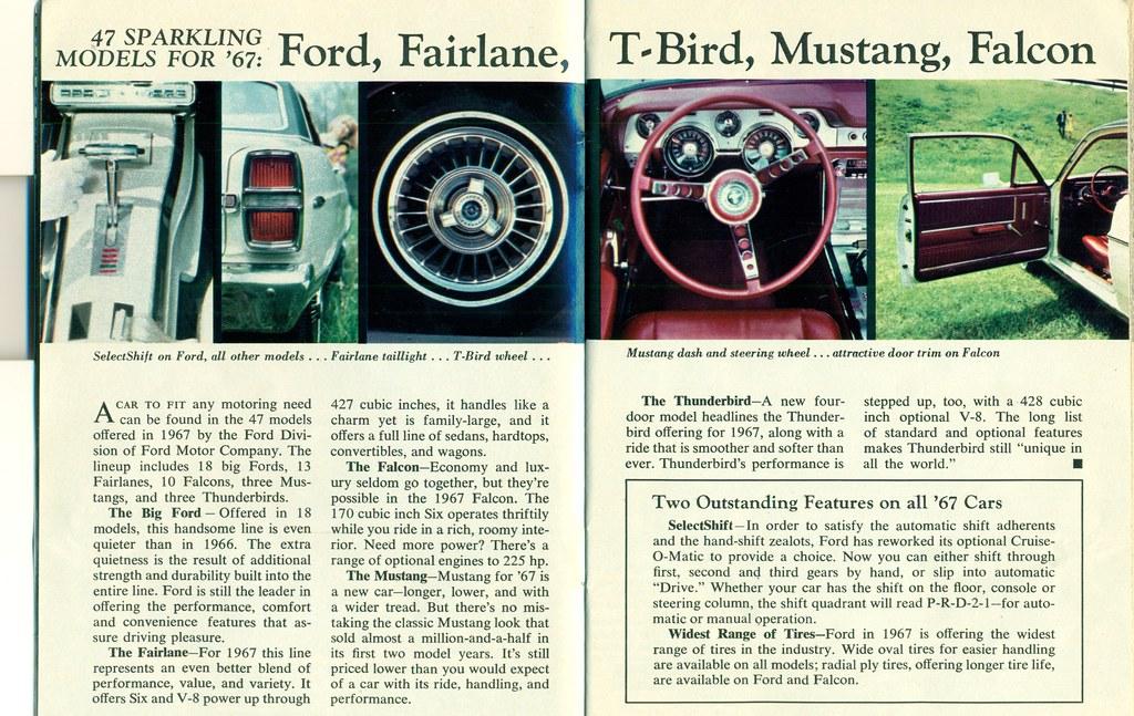 1967 Ford Galaxie 500 XL, Fairlane XL, Thunderbird, Mustan