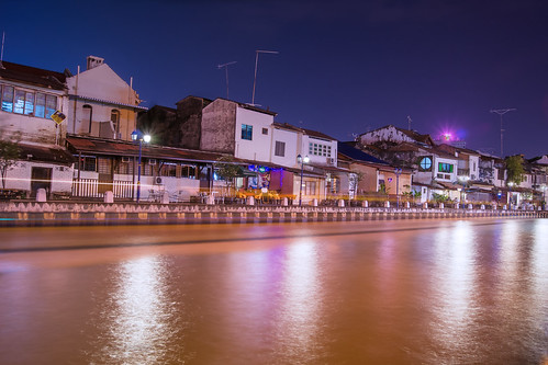 old love buildings river landscape boats landscapes long exposure nightscape sony low tripod like iso malaysia lighttrails nightlife bluehour share malacca nightscapes velbon digitalblending a37