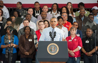 President Obama Promotes Minimum Wage Increase during Costco Visit. | by MDGovpics