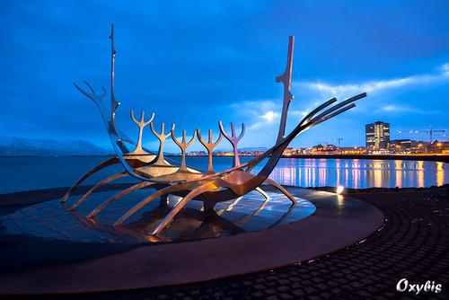 blue sunrise reykjavik hour
