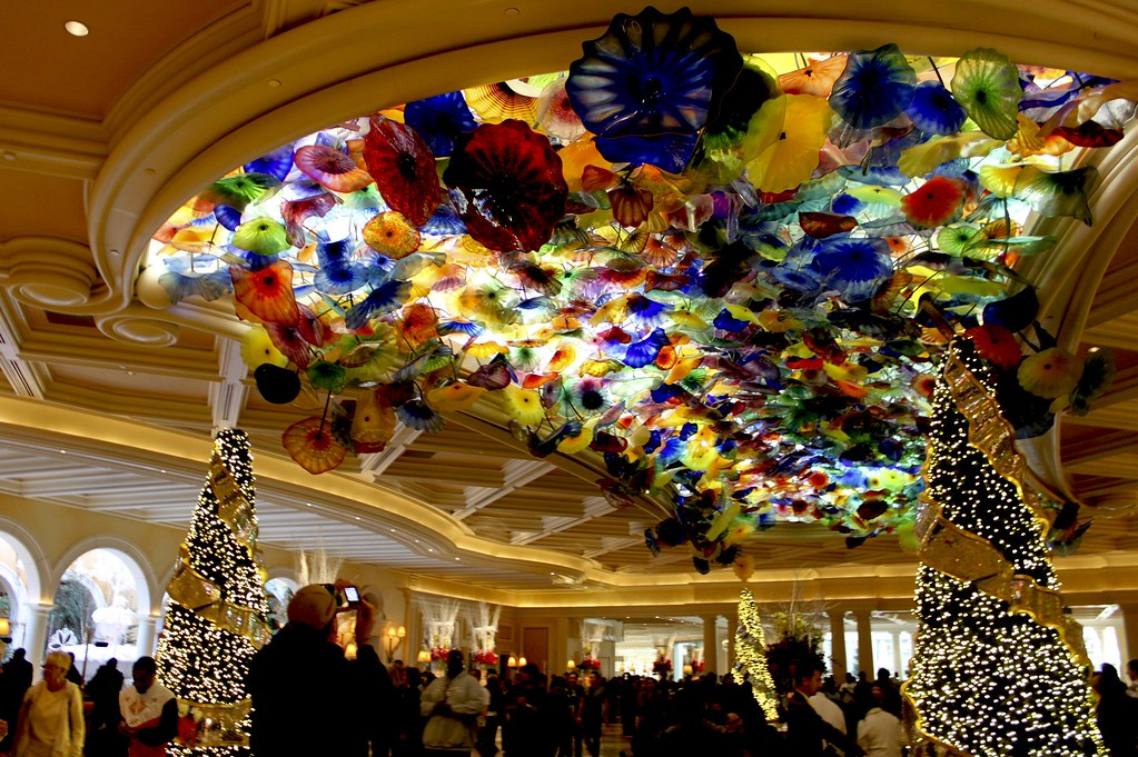 Christmas Decorations In The Bellagio Hotel In Las Vegas Flickr