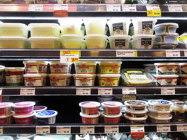 refrigerated cheese products at Whole Foods Market (2013)