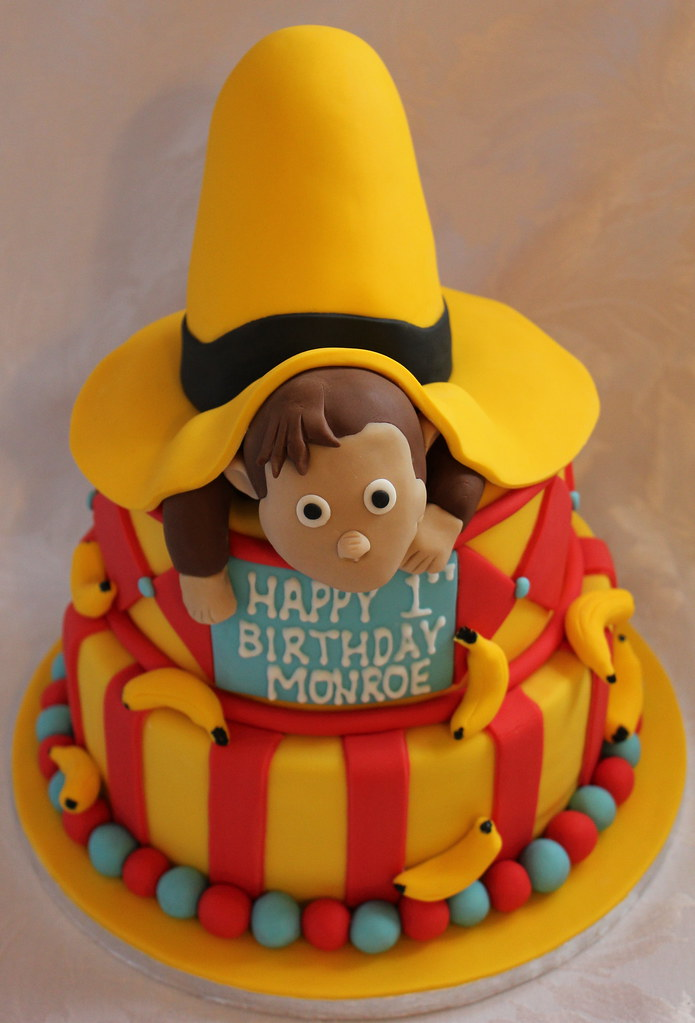 Enjoyable Curious George Birthday Cake Pauls Creative Cakes Flickr Funny Birthday Cards Online Sheoxdamsfinfo