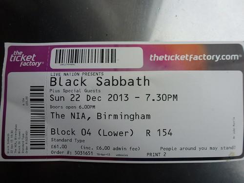 my black sabbath ticket went to see black sabbath on sunda flickr. Black Bedroom Furniture Sets. Home Design Ideas