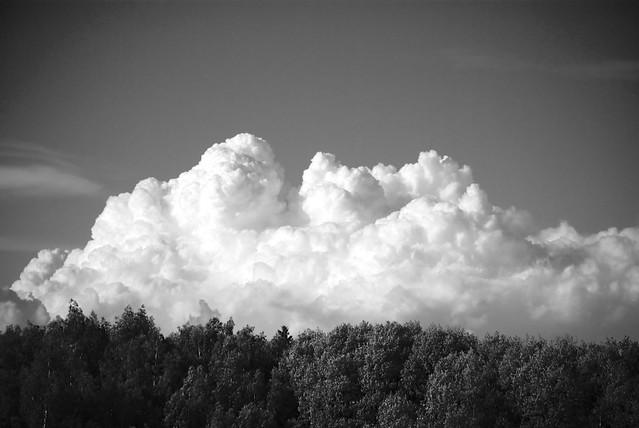 clouds blackwhite