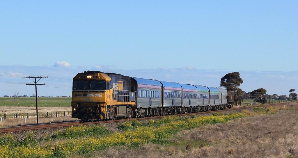 NR95 speeds past the Dooen freight hub on an UP Overland by bukk05
