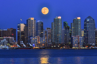 Moonrise Over San Diego | by Bill Gracey 23 Million Views
