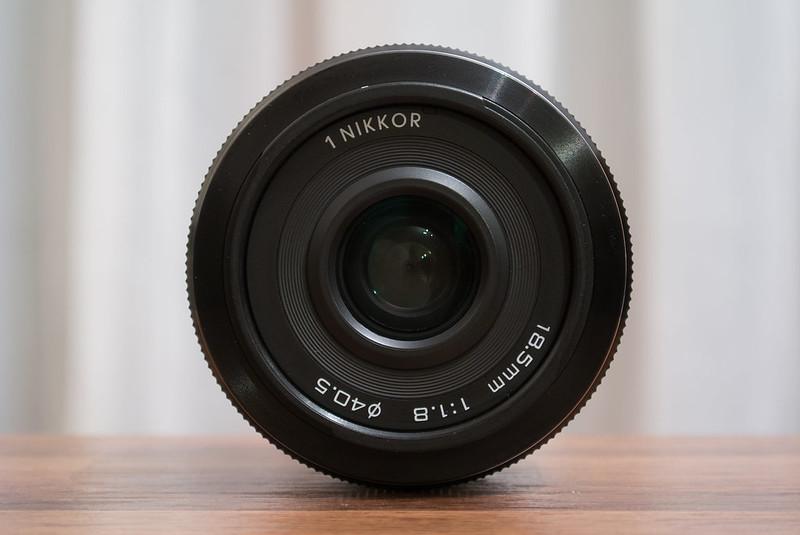 Nikon Nikkor 18.5mm f/1.8 front view