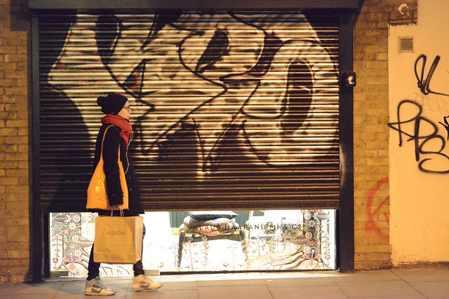 Closing hour , near Brick Lane, London
