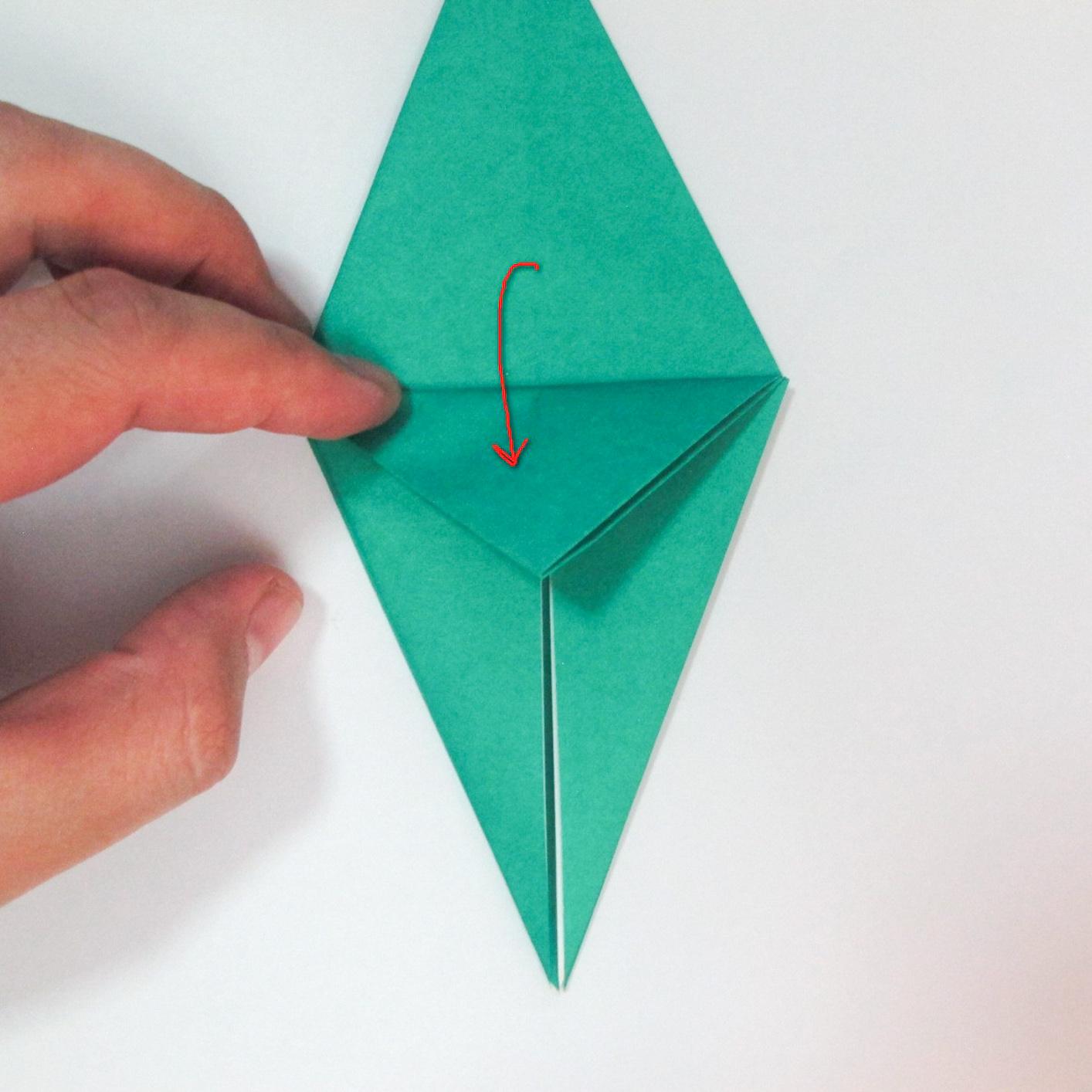 สอนวิธีการพับกระดาษเป็นรูปปลาฉลาม (Origami Shark) 014
