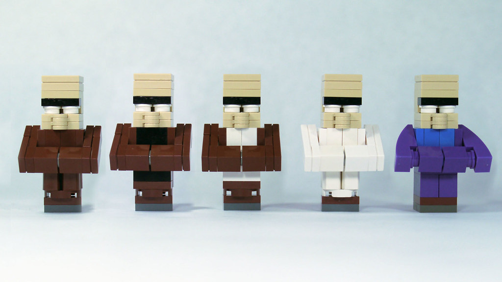 LEGO Minecraft Villagers (3x scale) | See how to build them:… | Flickr