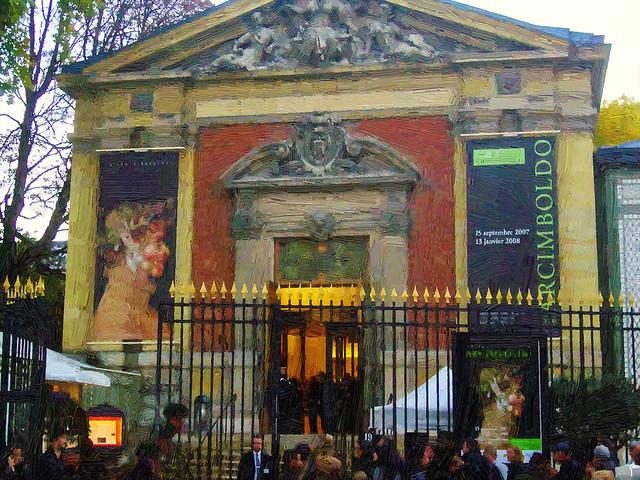 Painting an exhibition of Arcimboldo's paintings