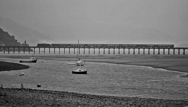 Welsh Rain! (Barmouth Bridge,...Mid Wales).