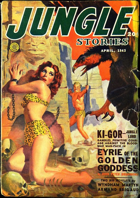 Jungle Stories Vol. 2, No. 6 (April, 1943). Cover Art by George Gross.