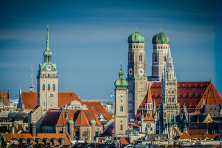 Munich Old Town with Frauenkirche and Sankt Peterkirche  - Germany | by mbell1975