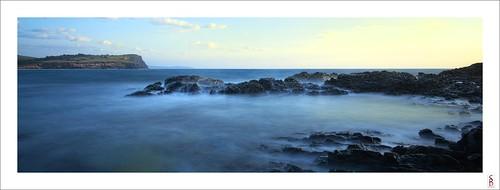 ocean longexposure sea seascape water sunrise dawn nikon le lennoxhead nd400 d90 skennarshead stephenbird
