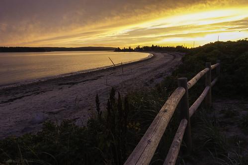 park light sunset sea sky beach water canon fence landscape photography maine canon1740f4l roquebluffs downeast 60d roguebluffsstatepark