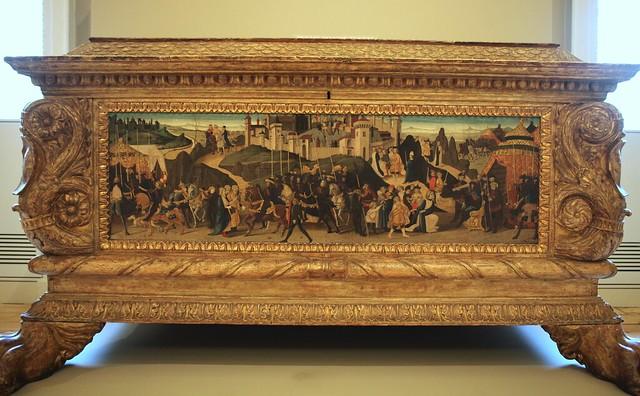 Biagio di Antonio, Jacopo del Sellaio, and Zanobi di Domenico - Morelli-Nerli Cassone R (1472) - frontal panel