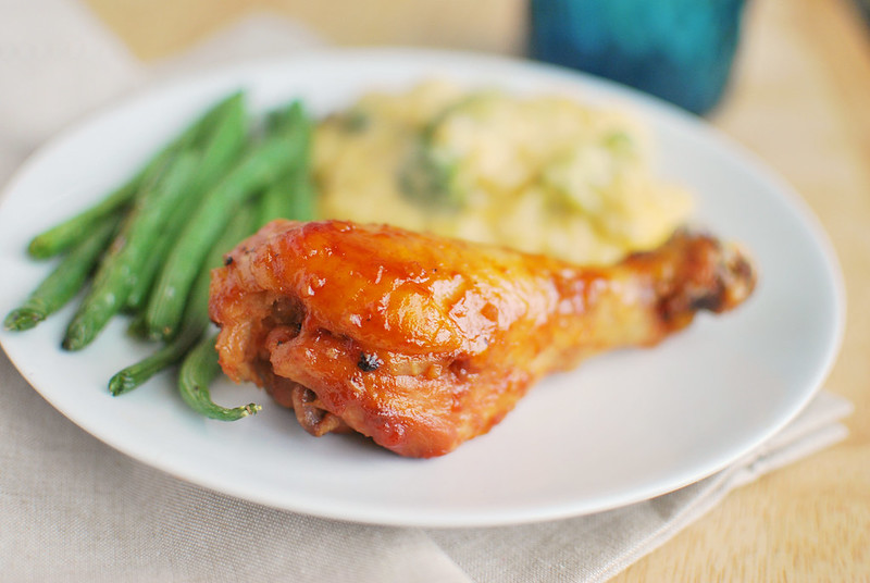 Slow Cooker Huli Huli Chicken - slow cooked chicken in a sweet and sour sauce with a Hawaiian twist! A kid favorite!