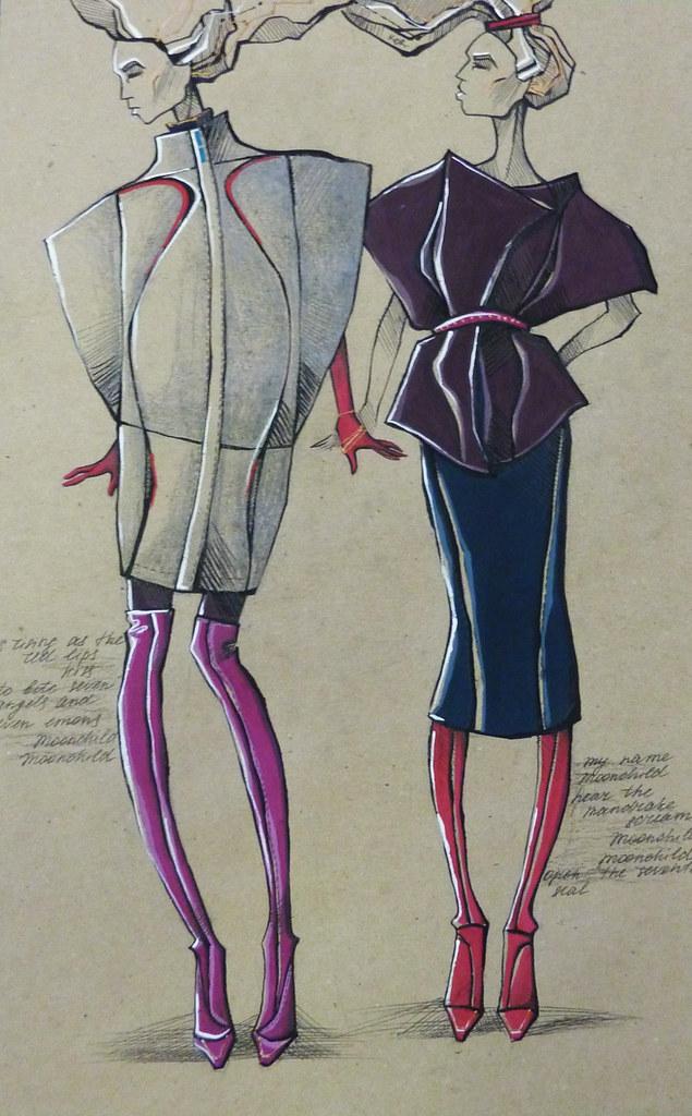 Curved Lines Inspiration Sketch 04 Medium Level Garments K Flickr