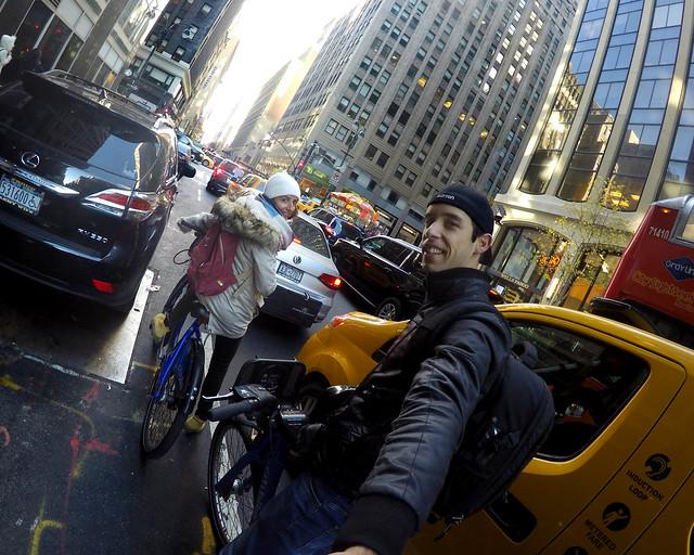 Callejero de Nueva York en bicicleta