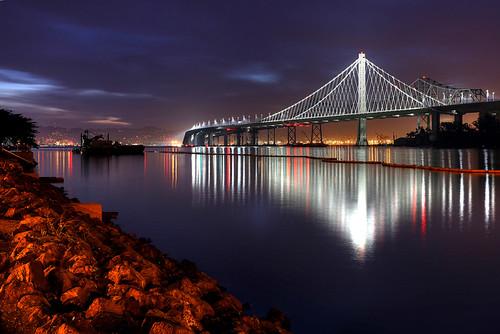 sanfrancisco california bridge usa dawn