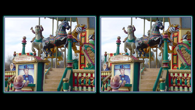 Carousel Ticket Girl Cross-eye 3D