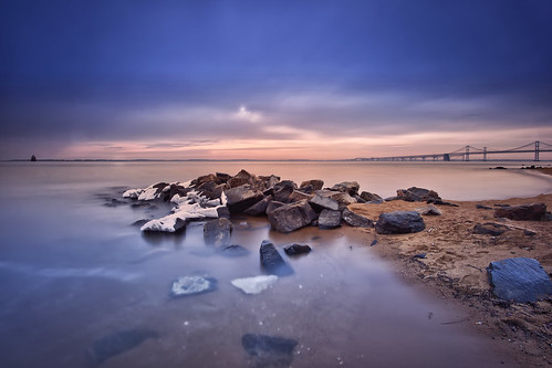 longexposure snow beach sunrise dawn day jetty maryland boulders baybridge annapolis filters remnants skidmore route50 chesapeakebay snad wetfeet dawnpatrol sandypointstatepark neutraldensity route301 cheasapeakebaybridge leebigstopper