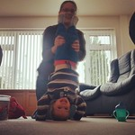 George doing handstands at granny's