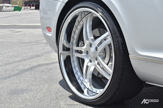 "22"" AC Forged Split 5 brush face chrome lip on 2006 Bentley Continental GT. 
