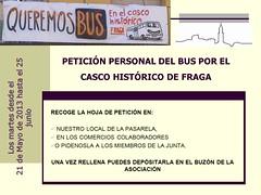 CARTEL-PETICIÓN PERSONAL- BUS