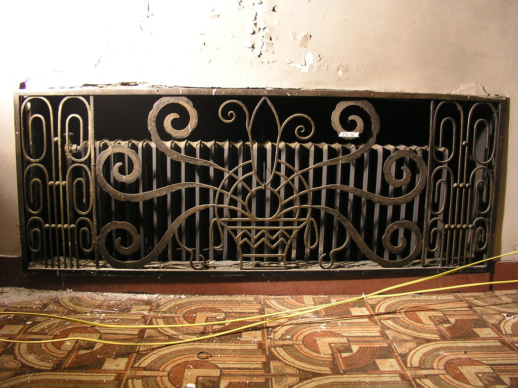 Art Deco metal grill, Foyer Mezzanine (currently not on di ...