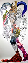 Concepcion, Ernest, The Wrath Of Gerana, 2008, ink, acrylic, colored pencil on paper, 120x54