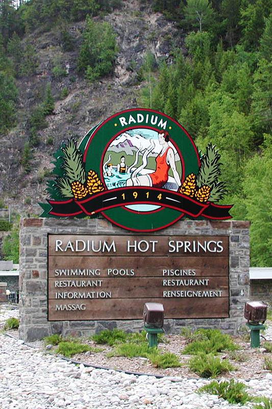Radium Hot Springs, Columbia River Valley, BC Rockies, British Columbia, Canada
