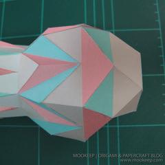 สอนทำโมเดลกระดาษเป้นรูปแจกันโบราณ (Papercraft Model Flower Vase) 024