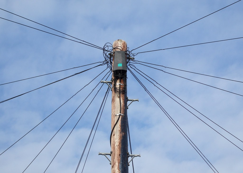 Telegraph Pole and Wires | A telegraph or telephone pole ser