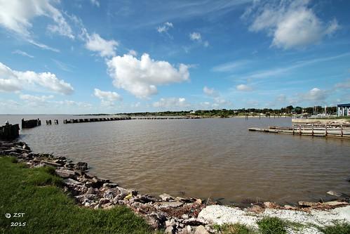 park clouds harbor texas bluesky portlavaca lavacabay zeesstof