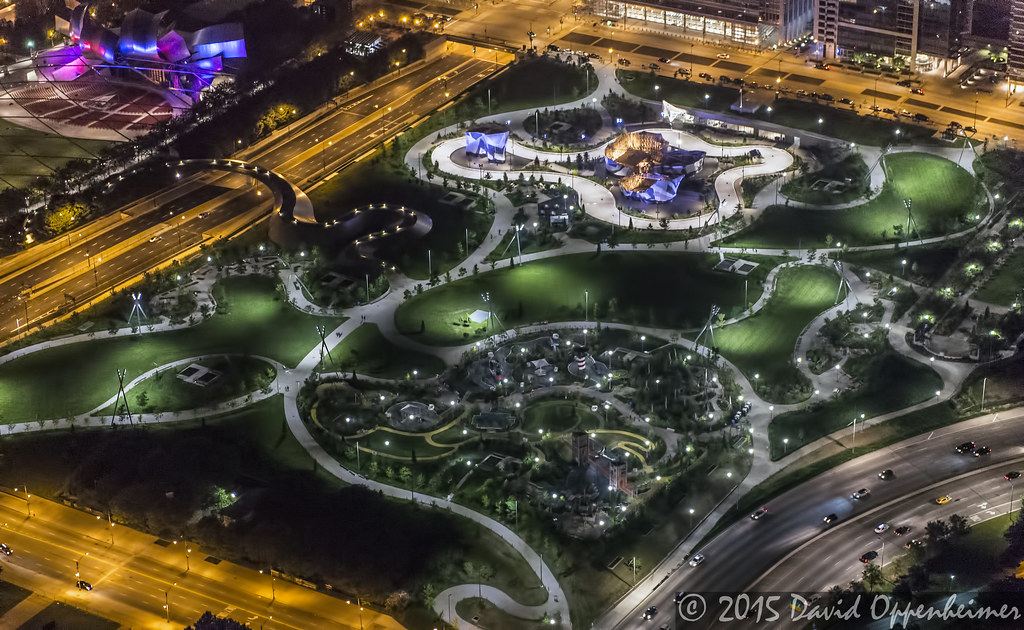maggie daley park in chicago aerial photo maggie daley par\u2026 flickr