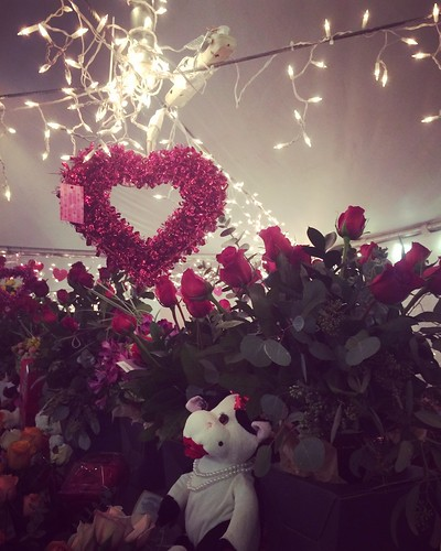 valentine valentinesday heart flowers tent
