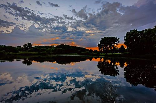 park sunset reflection minnesota clouds creek pond day crystal cloudy dusk bassett lightroom a55 mygearandme mygearandmepremium mygearandmebronze mygearandmesilver mygearandmegold mygearandmeplatinum mygearandmediamond