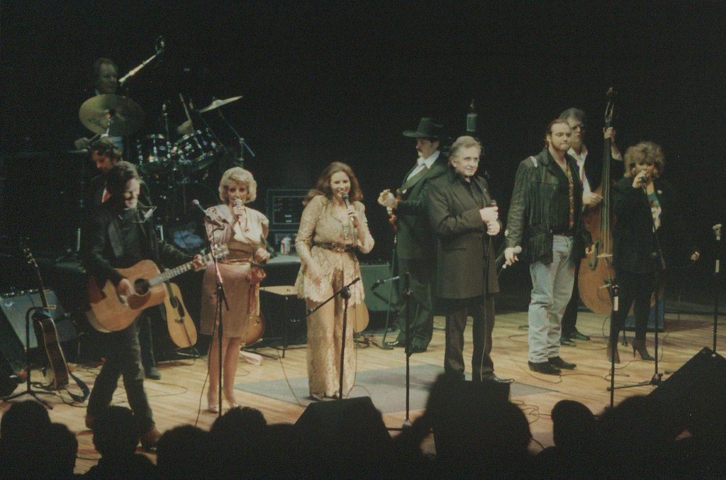 Kris Kristofferson and Johnny Cash at the University Concert Hall, Limerick 1993