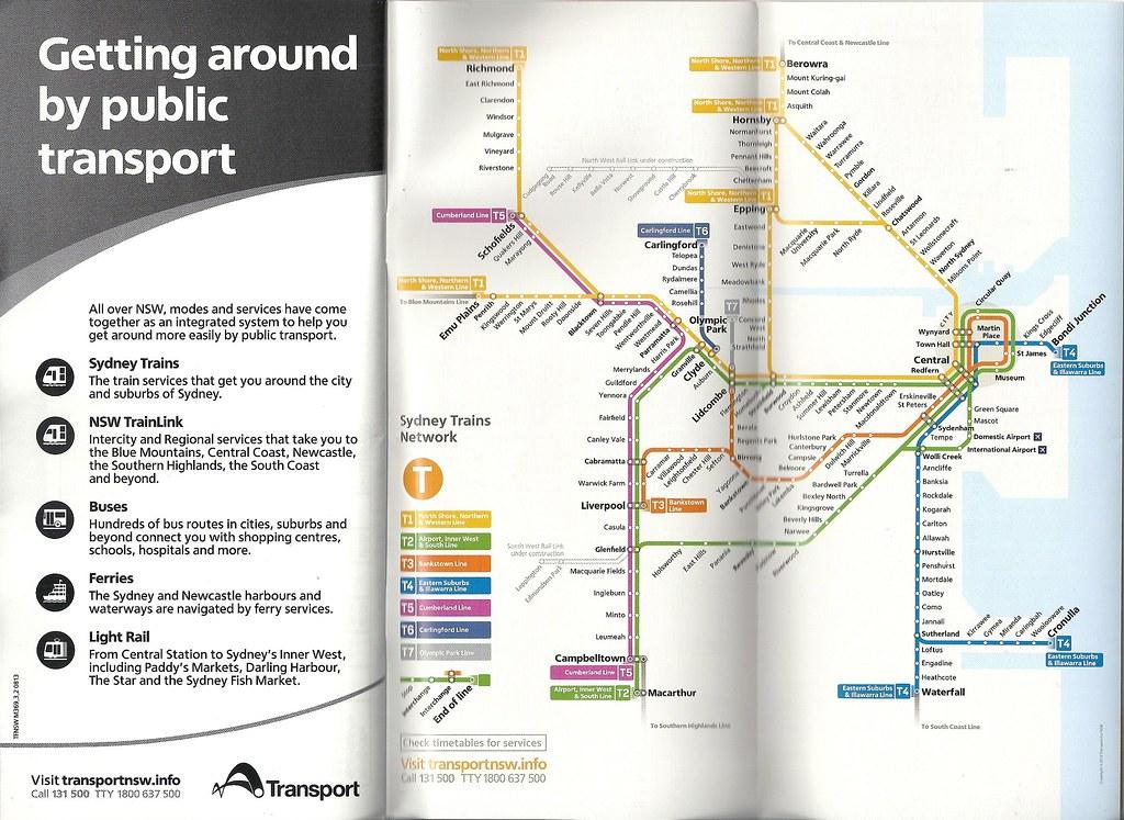 Sydney Trains map by abesty92