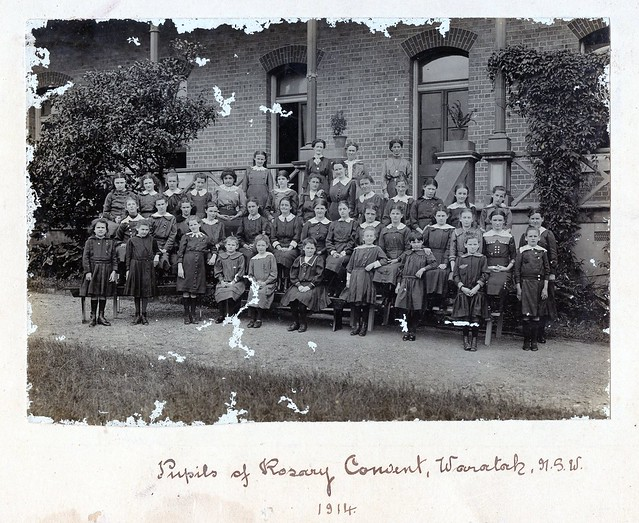 Pupils of Rosary Convent, Waratah, NSW, 1914