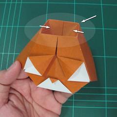 การพับกระดาษเป็นที่คั่นหนังสือหมีแว่น (Spectacled Bear Origami)  โดย Diego Quevedo 023