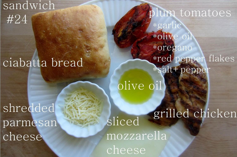 52 sandwiches #24: grilled chicken parmesan