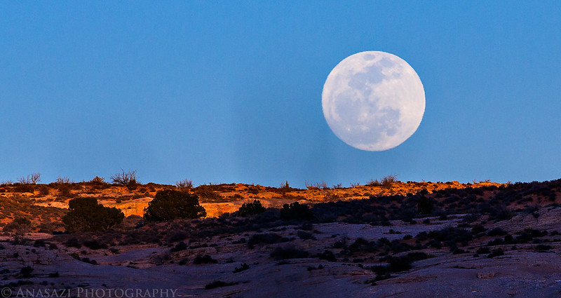 Moon Over Sandstone
