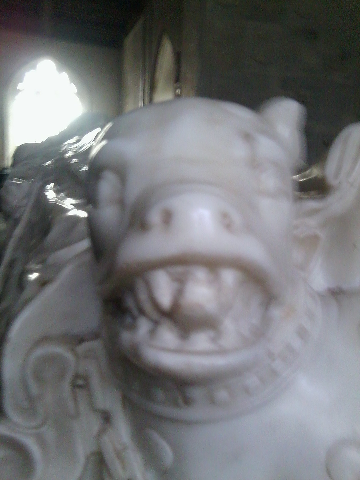 "Lovely, darling, now say ""cheese"" Tomb ornament, Hollingbourne Lenham to Hollingbourne"