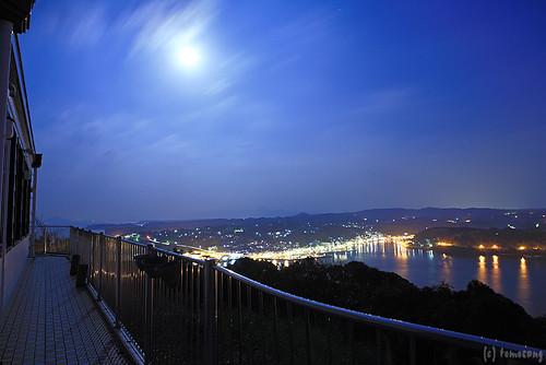 longexposure moon japan night nightscape saga 夜景 karatsu 佐賀 月夜 呼子 唐津 yobuko 風の見える丘公園 kabjima