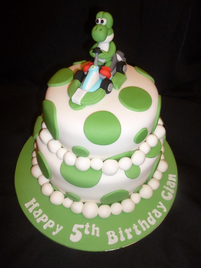 Peachy Yoshi Birthday Cake Dawn Flickr Funny Birthday Cards Online Necthendildamsfinfo